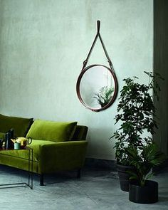 Gubi Mirror by Jacques Adnet (1900 - 1984) Was a French Architect and Art Deco Modernist Designer and an Icon of Luxurious French Modernism. Hermes Designer of Leather-Covered Furniture and Interior Accessories in the 1950's.