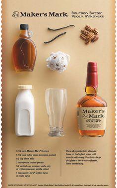 Bourbon Butter Pecan Milkshake. We all scream for ice cream. #Summer #AdultMilkshake #Cocktail