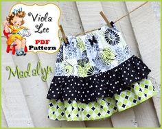 Madalyn.... Ruffled Twirl Skirt Pattern. Girl's Skirt Pattern. pdf Sewing Pattern, Ruffled Skirt Pattern. INSTANT DOWNLOAD. $6.00, via Etsy.