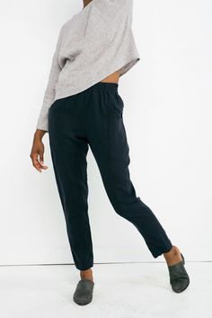 Clyde workpant- in linen for summer