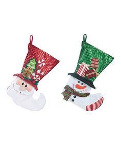 Look at this #zulilyfind! Christmas Stocking - Set of Two #zulilyfinds