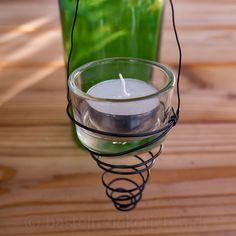 Teelichthalter für Flaschen Windlicht