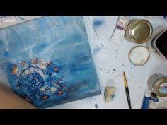 """Вебинар.Наталья Каримова.""""Глубокое синие море"""". Художественные навыки в Декупаже."""