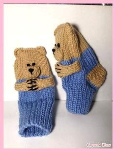Two-needle socks. Knitted Socks Free Pattern, Baby Booties Knitting Pattern, Newborn Crochet Patterns, Crochet Mittens, Mittens Pattern, Knitting Socks, Knitted Baby Boots, Knit Baby Booties, Knitted Slippers