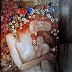 MACIERZYŃSTWO   obraz ceramiczny  Danuta Rożnowska-Borys