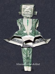 Money Origami Marilyn Monroe