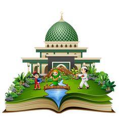 open a book with group of muslim people shaking ha Vector Graphics, Vector Art, Eid Mubarak Vector, Islamic Cartoon, Anime Muslim, Islamic Patterns, Islamic Wallpaper, 2d Art, Royalty