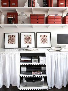 office, skirted desk