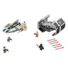 LEGO Star Wars - TIE Advanced al lui Vader contra A-Wing Starfighter (75150), jucarii LEGO ieftine de Craciun
