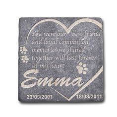 Personalized Memorial Pet Headstone Best Friend and Loyal Companion 6x6 Natural Stone, Marble, Traverten or Granite >>> Check this awesome product by going to the link at the image. (This is an affiliate link and I receive a commission for the sales)