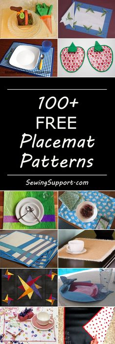 Lots of free placemat sewing patterns, tutorials, diy projects. Some quilted, many simple, easy designs. Place mat sewing for the home.