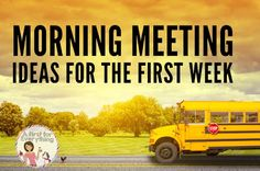 Over 20 ideas for morning meeting for kindergarten and first grade the first week of school. Greetings, morning messages, group activity ideas, freebies, sharing ideas and more! (K, 1st grade, responsive classroom, classroom management)