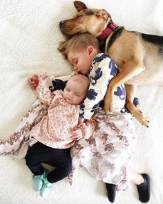The most adorable nap time cuddles.