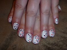 Shellac Polka Dot - Nail Art Gallery by nailsmag.com