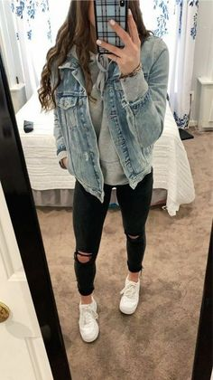 Simple Winter Outfits, Trendy Fall Outfits, Casual School Outfits, Cute Comfy Outfits, Winter Fashion Outfits, Look Fashion, Stylish Outfits, Stylish Clothes, Trendy Fashion