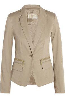 MICHAEL Michael Kors Stretch cotton-twill blazer    THE OUTNET