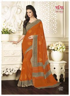 Sarees that inspires you, a collection you will don and flaunt forever— Bahar Titli collection. To get more collection online, visit www.vipulsarees.com