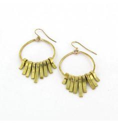 Nungunungu Earrings, recycled brass, kenya (MADE)