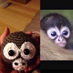 Saw this cute little monkey on Pinterest and decided to make one of my own :) Here's what I've got so far.