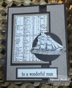 Siara Sweet Sensations: Stampin Up The Open Sea stamp set. fathers day, masculine, man card