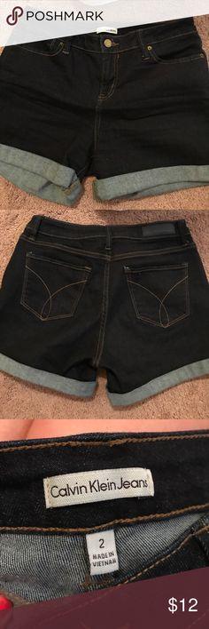Denim shorts Calvin Klein TJMaxx denim shorts, Calvin Klein brand, I love how soft they feel, just too big for me now! Only worn a few times. Calvin Klein Jeans Shorts Jean Shorts