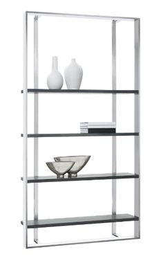 Dalton Large Bookshelf by Sunpan - Don't pay anything for shipping and get a great affordable price, now from Coleman Furniture. Contemporary Bookcase, Modern Bookcase, Contemporary Furniture, Steel Bookshelf, Large Bookshelves, Bookcases, Luxury Home Decor, Luxury Homes, Modern Rustic Furniture