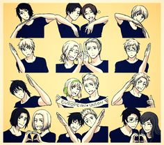 Axis Powers: Hetalia European Union Look at France and Germany, friends again?<><><