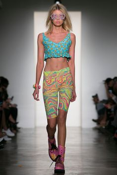 A look from the Jeremy Scott Spring 2015 RTW collection.