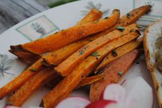 Garlicky Sweet Potato Fries (serves 4)