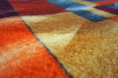 Amazon.de: DECO-MAT │ MODERNE / GELB-ORANGE │ Rutschfeste Fussmatte / Türmatte 40 x 60 Designer, Quilts, Contemporary, Blanket, Orange, Rugs, Home Decor, Yellow, Farmhouse Rugs