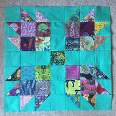 Scrappy Bear Paw Block Tutorial   FaveQuilts.com