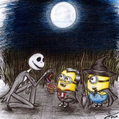 Halloween Minions by ColorfulGuitar.deviantart.com on @DeviantArt