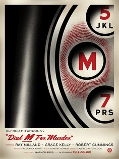 Fantastic poster by Clark Orr/ Alfred Hitchckok, Dial M. for murder