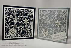 Snowy Cards/ Crafting Crumbs