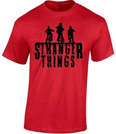 icustomworld Mens Stranger Things Bikes Tshirt Netflix Series Shirt S Red -- Read more reviews of the product by visiting the link on the image.