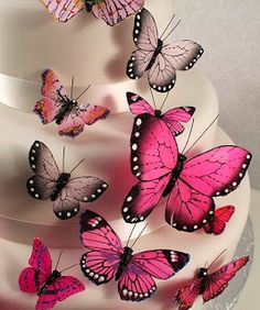 Make a butterfly wedding cake to remember with The Knot Shop's exquisite butterfly cake decorations, available in various colors. Butterfly Wedding Cake, Butterfly Cakes, Pink Butterfly, Quilling Butterfly, Butterfly Ornaments, Themed Wedding Cakes, Wedding Cake Toppers, Wedding Favors, Wedding Cards