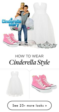 """""""the white dress story"""" by harryvimes on Polyvore featuring Topshop, Converse, Masquerade, Kate Marie, converse, mask, acinderellastory and whitepromdress"""