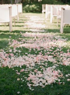A perfect petal aisle.