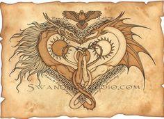 'Dragonheart' by ~swandog.
