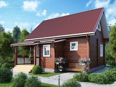 8,5 х 9,6 м Shed, Villa, Outdoor Structures, Outdoor Decor, Projects, Home Decor, Log Projects, Blue Prints, Decoration Home