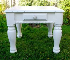 Shabby White End Tables Old Furniture, Painted Furniture, White End Tables, First Night, Chalk Paint, Shabby, Diy Projects, Painting, Dyi