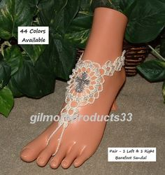 Show your #unity and commitment at your wedding these cross barefoot sandals are the perfect foot jewelry.  Any bride would love the filigree lace cross to show her faith.  ... #etsy