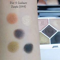 Dior 5 Couleurs Couture Eyeshadow Palette 579 Jungle | Lenallure Dior, Makeup Items, Color Stories, Bold Colors, Green And Gold, Eyeshadow Palette, Earthy, Mascara, Color