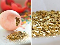Blow the egg out of the shell and fill with glitter. Smash over a friend's head! :) Such a great idea....Easter? Birthdays?