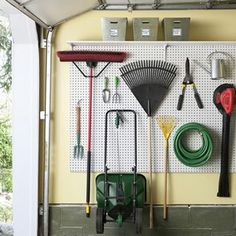 Cleaning and creating a neat, organized garage doesn't need to be a huge chore!