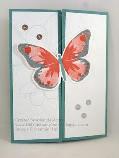 Did You Stamp Today?: Butterfly Gatefold - Stampin' Up! Watercolor Wings