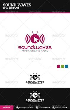Sound Waves Logo Template ...  Muzik, alternative, audio, bars, celebrities, dance, digital, forum, house, icon, logo, lyrics, mouse, music, musical, musician, notes, online, pop, purple, rock, sing, singers, site, song, template, tunes, vector, website