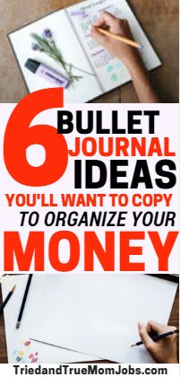 6 Incredible Bullet Journal Ideas To Help Organize Your Money. These are seriously some of the best ideas I've found for my bullet journal. Take a look as I'm sure you'll want to copy these #bulletjournal #bulletjournalideas #bulletjournaling