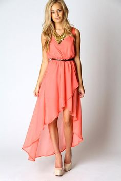Katie Mixi Hem High Low Dress