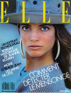 Stephanie Seymour   -  Elle France March 1987   by Gilles Bensimon